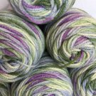 LOT 6x RED HEART Super Saver YARN #318 WATERCOLOR 33oz Blue Purple Green Yellow