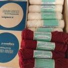 18 skein Vintage Nantuk Dimension Knitting Yarn Columbia Minerva White Cranberry