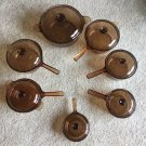Amber Corning Visions 15pc Cookware Saucepans Skillets Double Boiler Dutch Oven