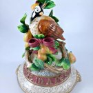 FITZ & FLOYD 12 Days Of Christmas PARTRIDGE In A PEAR Tree Centerpiece MUSICAL