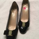 Salvatore Ferragamo Vara Black Patent Leather Pumps 7 N  EXCL COND Made In ITALY