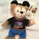 "2x Disney Park HIDDEN MICKEY Mouse Teddy Bear 13"" Night Cap Pajamas + DUFFY LOT"