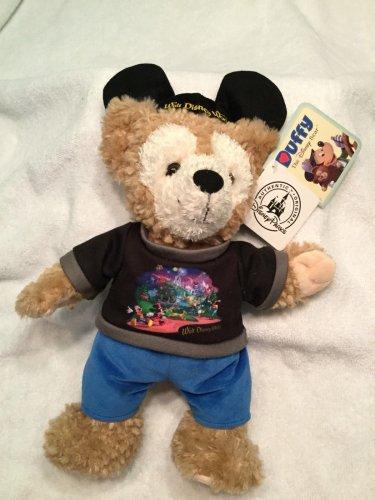 2x Disney Park HIDDEN MICKEY Mouse Teddy Bear 13� Night Cap Pajamas + DUFFY LOT