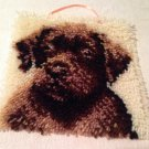 """New Wonderart LATCH HOOK Finished CUTE LAB PUPPY DOG 12"""" sq PILLOW top COMPLETE"""
