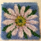 """New Wonderart LATCH HOOK Finished SWEET DAISY FLOWER 12"""" sq PILLOW top COMPLETE"""