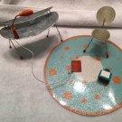 RETIRED American Girl Illumna Room SQUIGGLY DESK SET mini AG LAMP CHAIR RUG lot