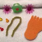 RETIRED American Girl Illumna Room BLOOMING LITTLE THINGS SET mini lot