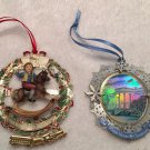 2x Official WHITE HOUSE Historical Association Christmas Ornaments 2003 +2009