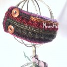 Handmade Chunky Ear Warmer Beanie Pink Teal Blue Orange Ponytail Nordic Messy Bun Hat Crochet