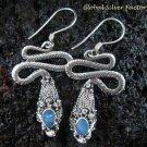 925 Silver Australian Opal Snake Earrings ER-485-KA
