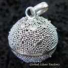 925 Silver & Granulated Design Chime Ball CH-307-KT