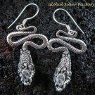 925 Silver CZ Snake Earrings ER-486-KA