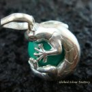 925 Silver Green Gecko Chime Ball 12mm CH-134-KT