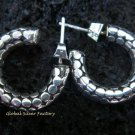 Round 925 Silver Bali Hoop Earrings SE-141-NY