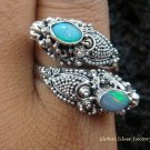 925 Silver Opal Double Head Snake Ring RI-274-KT