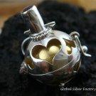 925 Silver Garnet Heart Harmony Ball 16mm HB-272-KT