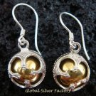 925 Silver Gold Chakra Chime Ball Earrings CBE-149-KT
