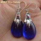 Silver Amethyst & Garnet Earrings SJ-197-KA