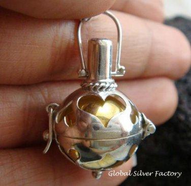 925 Silver Amethyst Heart Harmony Ball 16mm HB-271-KT