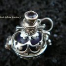 925 Silver Amethyst Black Harmony Ball 12mm HB-281-KT
