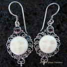 925 Silver Garnet Goddess Earrings GDE-773-NY
