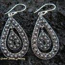 Sterling Silver Bali Ornate Design Earrings SE-138-KT