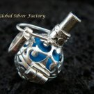 925 Silver Blue Harmony Ball 12mm HB-280-KT