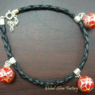 925 Silver Red Filigree Chime Ball Bracelet CH-280-KT