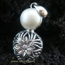 Floral Bali 925 Silver & Pearl Pendant SP-381-KT