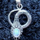 Sterling Silver Rainbow Moonstone Snake Pendant SP-189-NY