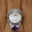 Silver Amethyst Goddess Ring GDR-381-PS