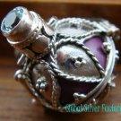 925 Silver Blue Topaz Purple Harmony Ball HB-256-KT