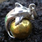 925 Silver Dolphin Chime Ball Pendant 12mm CH-186-KT