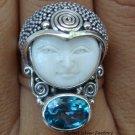 Silver Topaz Goddess Ring -- Size 9 GDR-379-PS