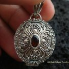 925 Silver & Garnet Oval Locket Pendant LP-176-KT