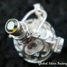 925 Silver Peridot & White Harmony Ball HB-259-KA