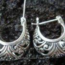 Handcrafted Silver Hoop Earrings SE-115-KT
