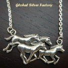 Sterling Silver Horse Necklace NS-108-KT
