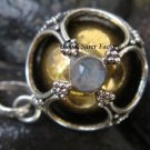 925 Silver Rainbow Moonstone Chime Ball Pendant CH-118-KT