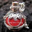 925 Silver Garnet Harmony Chime Ball Pendant HB-128a-KT