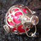 925 Silver Rose Quartz Harmony Ball Pendant 20mm HB-218-KT