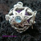 Silver Moonstone Flower Heart Harmony Ball Pendant HB-228a-KT