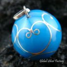 925 Silver Blue Chime Ball Pendant 20mm CH-267-KA