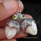 925 Silver & Peridot Goddess Earrings GDE-827-PS