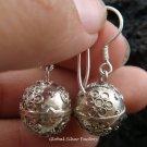 Sterling Silver Chime Ball Earrings 12mm CBE-134-KA