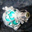 Silver Peridot Komang Design Harmony Ball Pendant HB-226c-KA