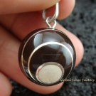 925 Silver Black Swirl Chime Ball Pendant CH-158-KT