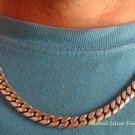 Men's Sterling Silver 21.5 Inch  Curb Link Chain Bracelet MJ-124-PS