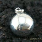 High Polish 925 Sterling Silver chime Ball Pendant 12mm CH-148-KT