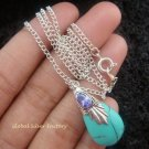 925 Silver Turquoise (syn) Necklace SJ-211-KT